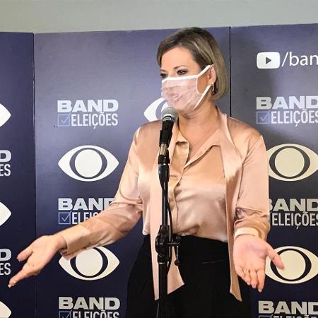 Candidata pelo PSL, Joice Hasselmann chega a debate na Band - Felipe Pereira/UOL