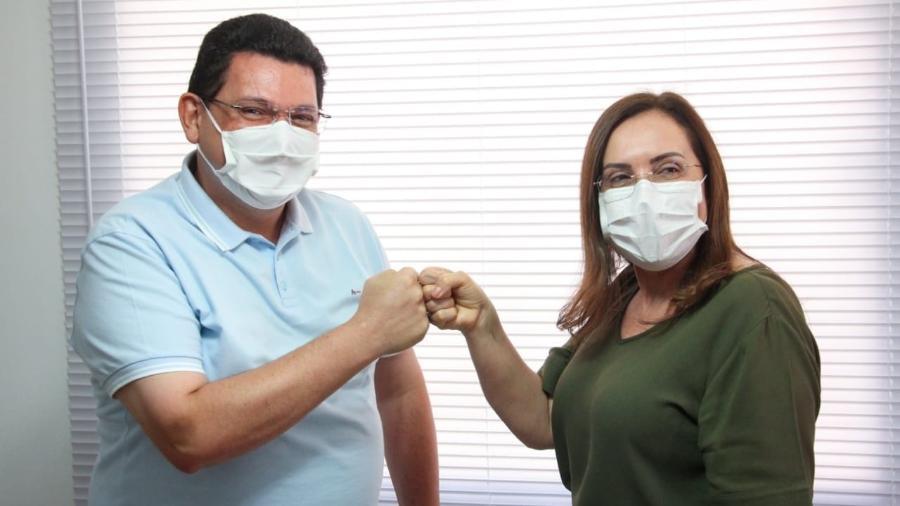 Josiel (DEM) e Silvana Vedovelli (Avante), candidatos a prefeito e vice-prefeita de Macapá - Reprodução/Facebook