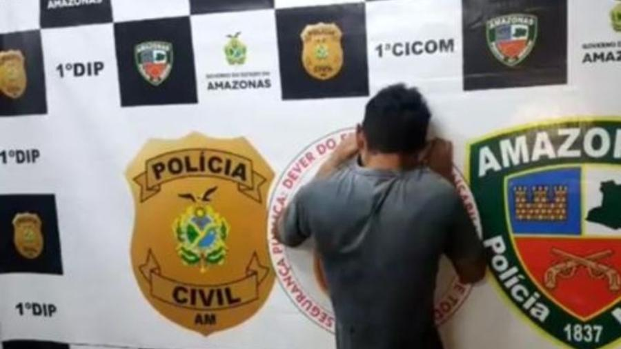 Jovem foi preso acusado de matar seu pai - Divulgação/Polícia Civil AM