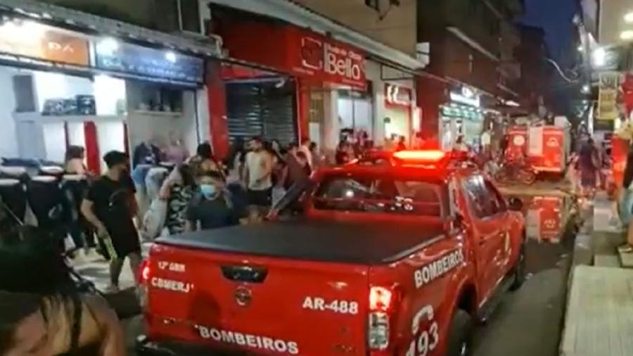 Moradores foram evacuados de prédio após estalos - Reprodução/TV Globo