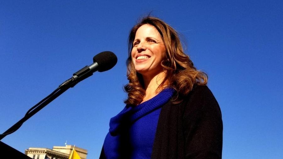"""Simone Gold, militante e fundadora do America""""s Frontline Doctors - Reprodução/Facebook/America""""s Frontline Doctors"""