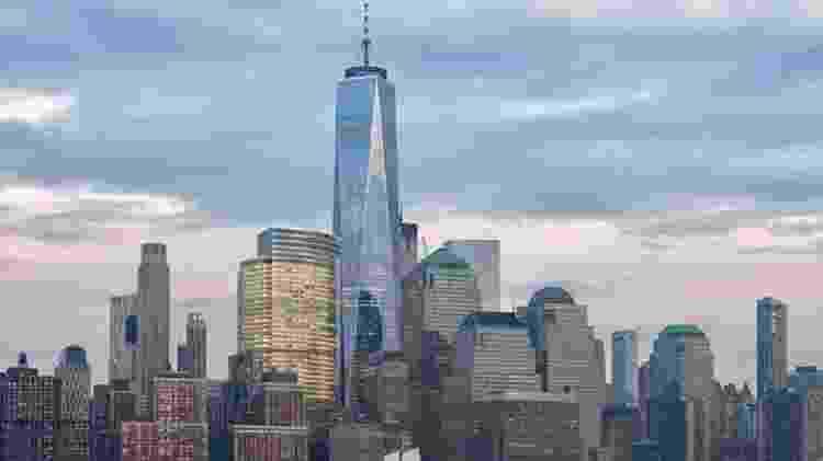 O novo One World Trade Center substituiu as torres gêmeas na ilha de Manhattan, em Nova York - GETTY IMAGES - GETTY IMAGES