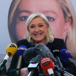 7.dez.2015 - Marine Le Pen, líder da Frente Nacional francesa, em Lille (norte da França)