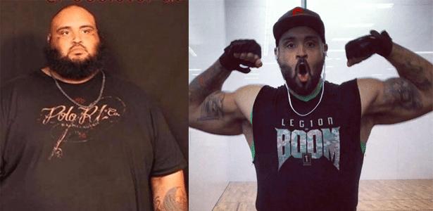 Sim, acredite: o da esquerda e o da direita são a mesma pessoa com 130 kg de diferença