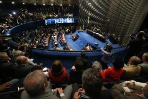Vista do plenário do Senado, no Congresso Nacional