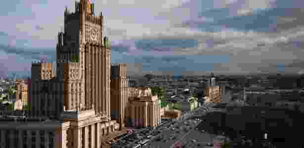 Prédio do Ministério russo das Relações Exteriores, em Moscou - Joel Saget/ AFP