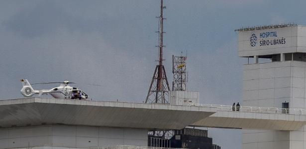 Helicóptero que transportava o presidente Michel Temer pousa no Sírio-Libanês