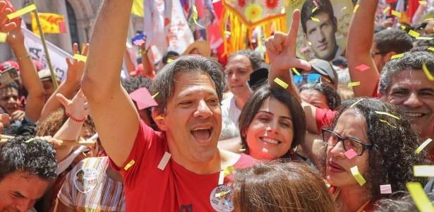 Fernando Haddad (PT), em caminhada no centro do Recife