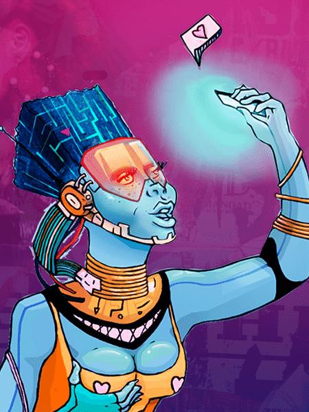 A robô trans Amanda Selfie - Divulgação