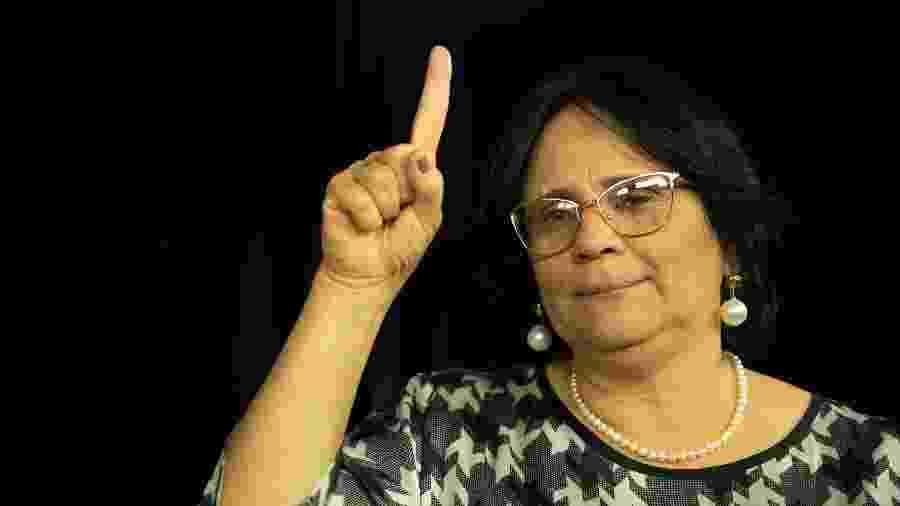 A ministra da Mulher, Família e Direitos Humanos do governo Bolsonaro,DamaresAlves - Kleyton Amorim/UOL