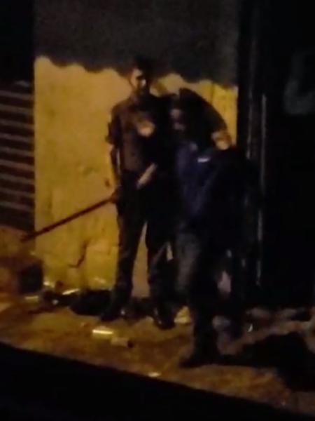 PM agride jovem em Paraisópolis - Reprodução