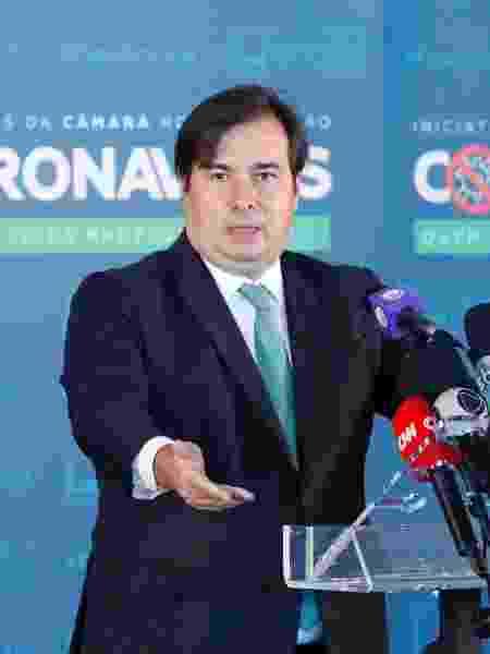 27.mai.2020 - O presidente da Câmara, Rodrigo Maia (DEM-RJ) - Maryanna Oliveira/Câmara dos Deputados