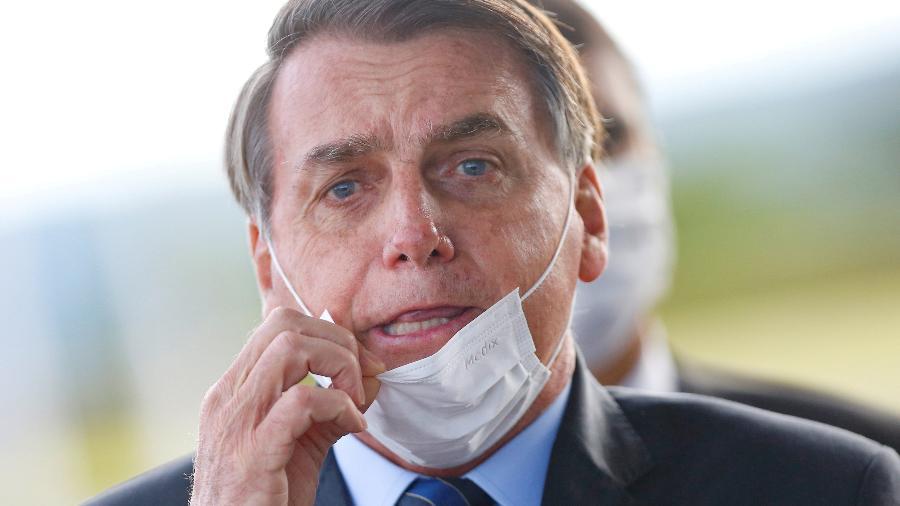 O presidente Jair Bolsonaro em Brasília -