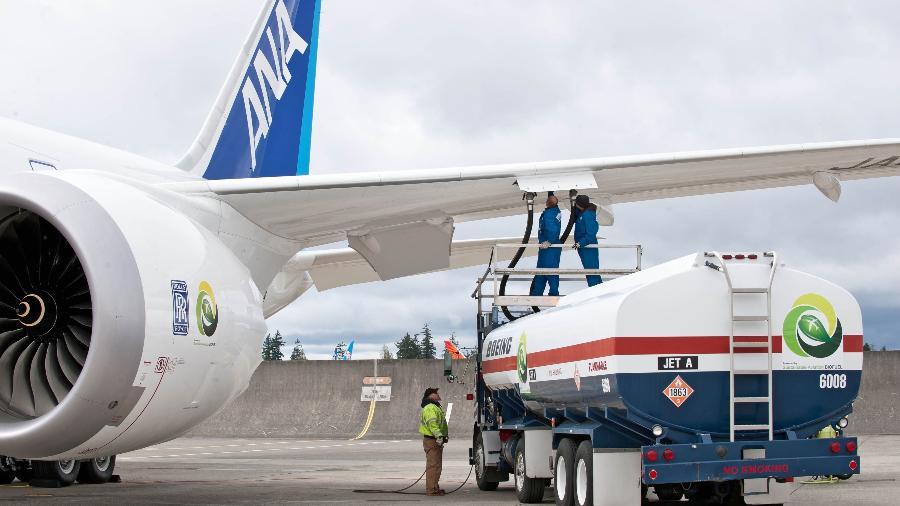 Combustível do avião fica armazenado nas asas - Divulgação