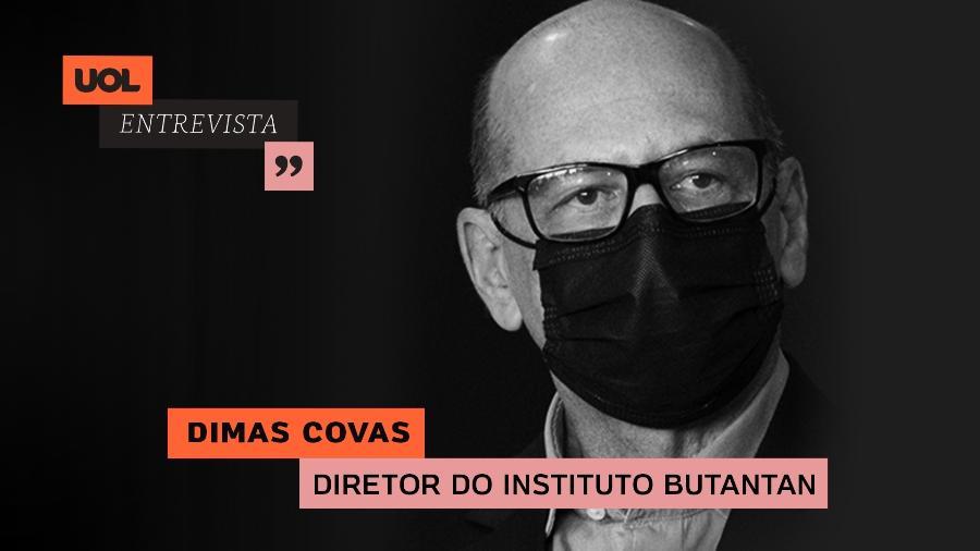 Dimas Covas, diretor do Instituto Butantan, participa do UOL Entrevista (11/01/21) - Arte/UOL