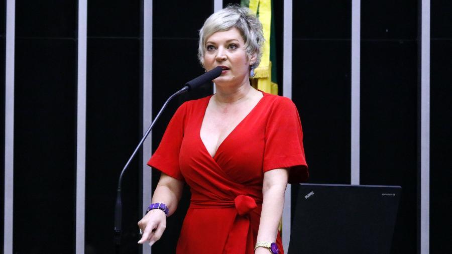 A deputada federal Joice Hasselmann (PSL-SP) diz que comunidade escolar deve ter prioridade na vacinação contra a covid-19 - Maryanna Oliveira/Câmara dos Deputados
