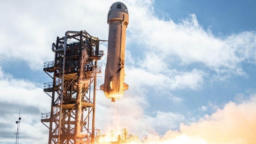 New Shepard opera em uma zona desértica do Texas - Blue Origin