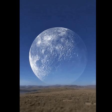Vídeo garante que imagem da Lua gigante foi capturada no Ártico - Reprodução