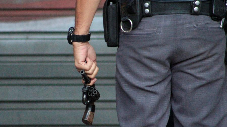 31.ago.2021 - Policial militar de São Paulo em atuação no centro da cidade de São Paulo, SP - Willian Moreira/Estadão Conteúdo