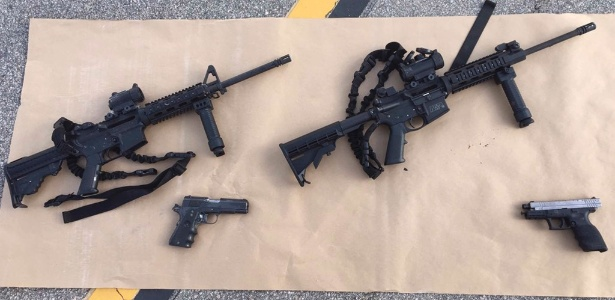 Armas usadas no ataque de San Bernardino foram confiscadas pela polícia