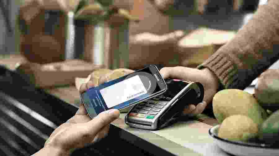 Samsung Pay, um dos serviços de carteira digital no Brasil - os outros são Apple Pay e Google Pay - Divulgação