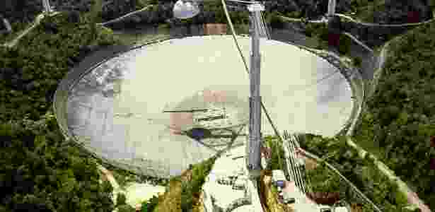 O radiotelescópio de Arecibo, em Porto Rico, é o mais sensível do mundo - Wikimedia Commons