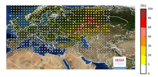 Material radioativo atingiu a maior parte dos países da Europa
