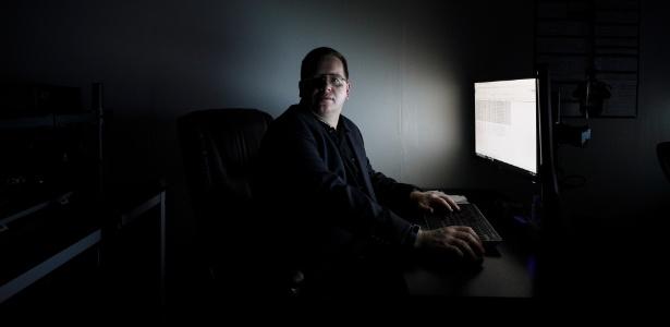 Jake Williams, ex-membro da unidade de hacking da Agência de Segurança Nacional, em sua empresa de segurança cibernética