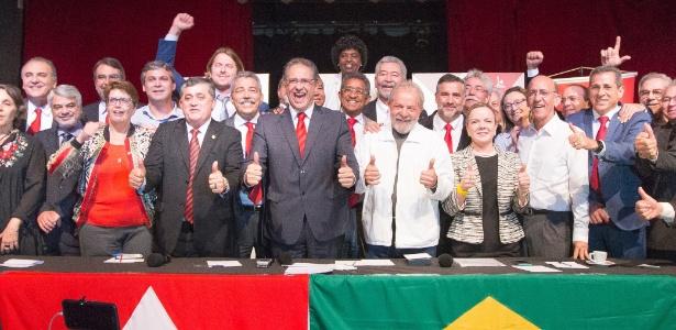 Lula participou de reunião das bancadas do partido na Câmara e no Senado
