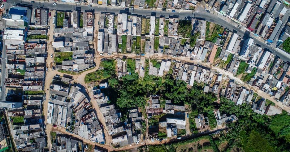 3.mai.2018 - Imagem aérea da ocupação Araguaia, no Iguatemi, extremo leste de São Paulo