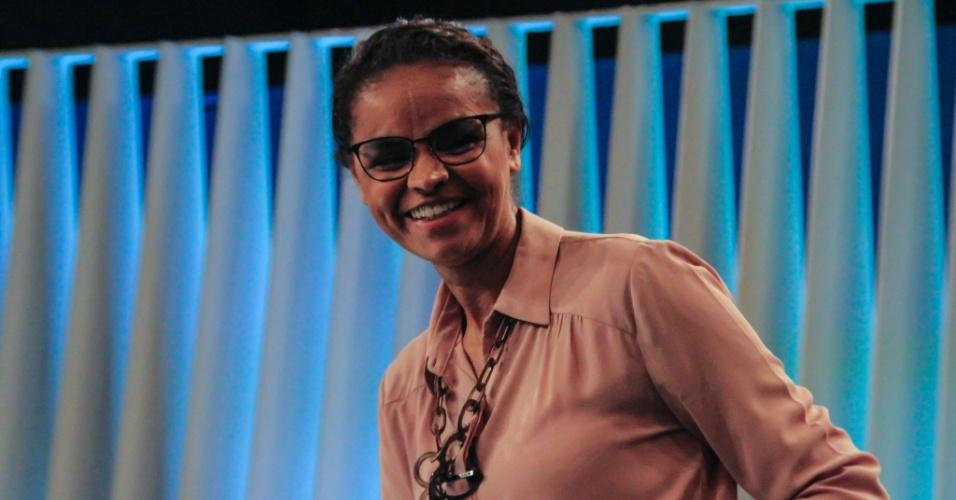 4.out.2018 - Marina Silva durante debate da TV Globo
