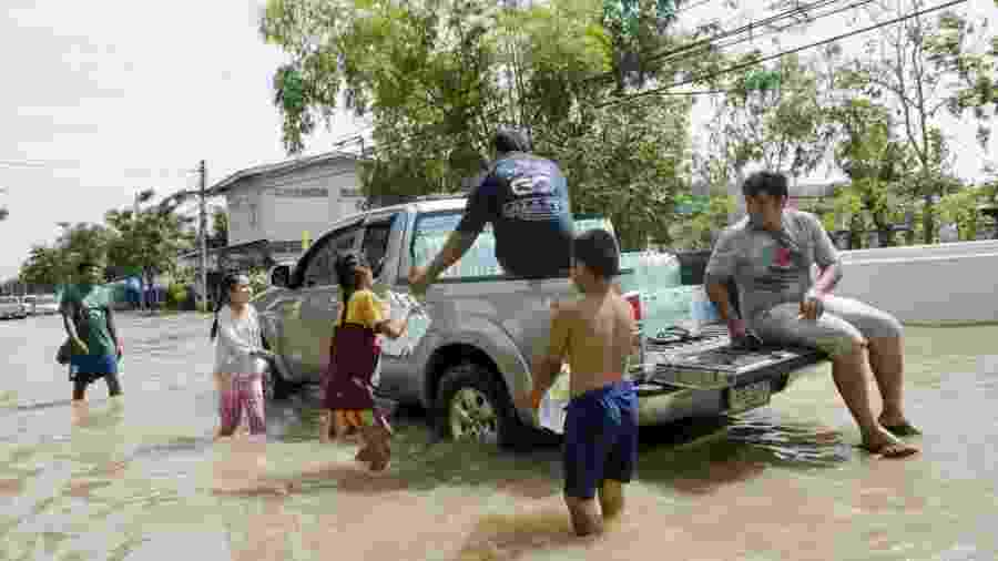 O relatório também destaca a vulnerabilidade das crianças em áreas afetadas por desastres - Getty Images