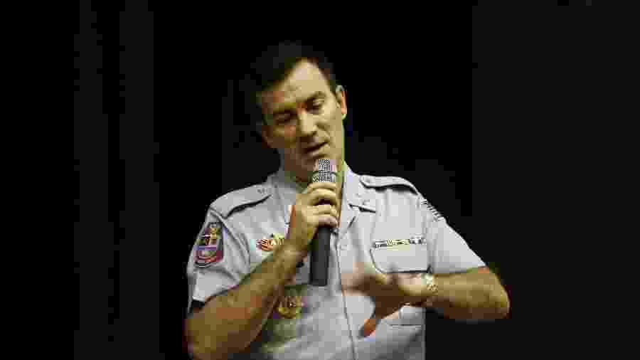 Coronel Álvaro Batista Camilo defendeu atuação da PM nos protestos deste domingo na Paulista - Edson Silva/ Folha Imagem