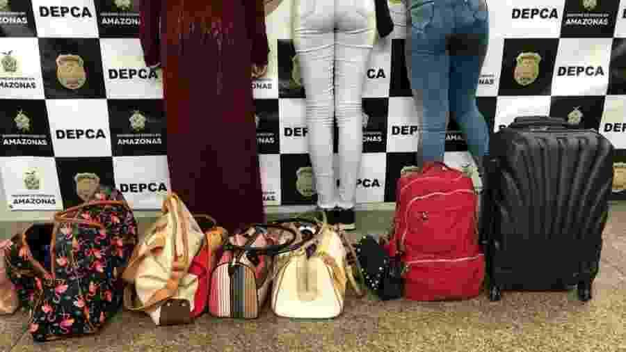 Três adolescentes foram apreendidas no aeroporto de Manaus - Divulgação/Polícia Civil