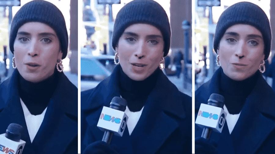 Frio faz nariz de repórter da GloboNews sangrar em entrada ao vivo - Reprodução/GloboNews