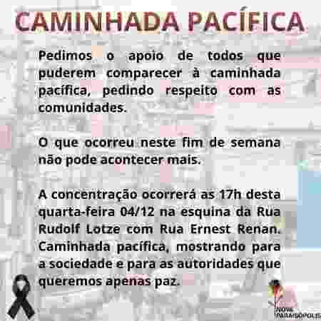 Imagem usada no Facebook para divulgar a Caminhada Pela Vida - Reprodução/Facebook