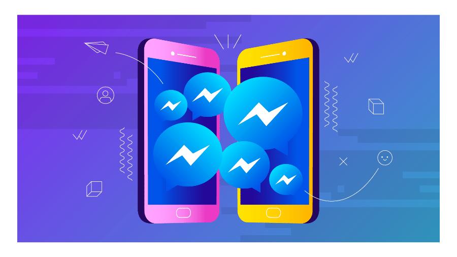 messenger; redes sociais; mensagens; celular; facebook; celular - Arte UOL