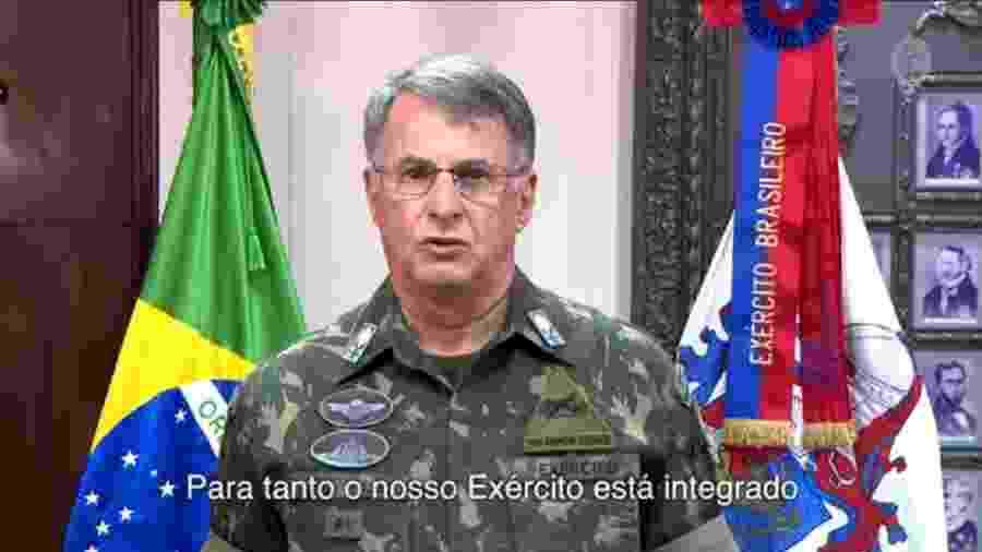 Edson Leal Pujol, comandante do Exército: Força suspendeu aulas presenciais e ajudou autoridades de Vitória a convencer a população a ficam em casa - Reprodução/Youtube