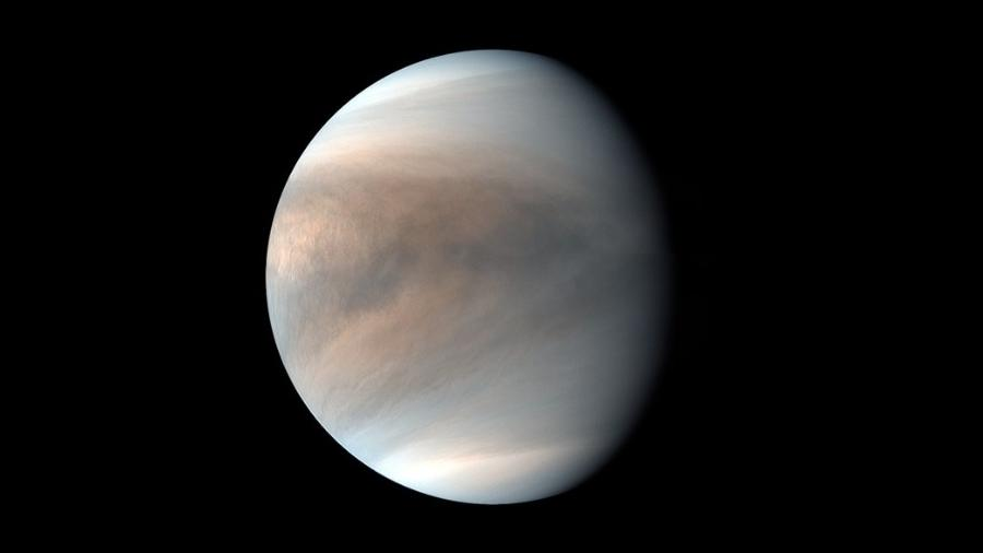 Planeta Vênus em imagem da sonda japonesa Akatsuki - JAXA/ISAS/Projeto Akatsuki