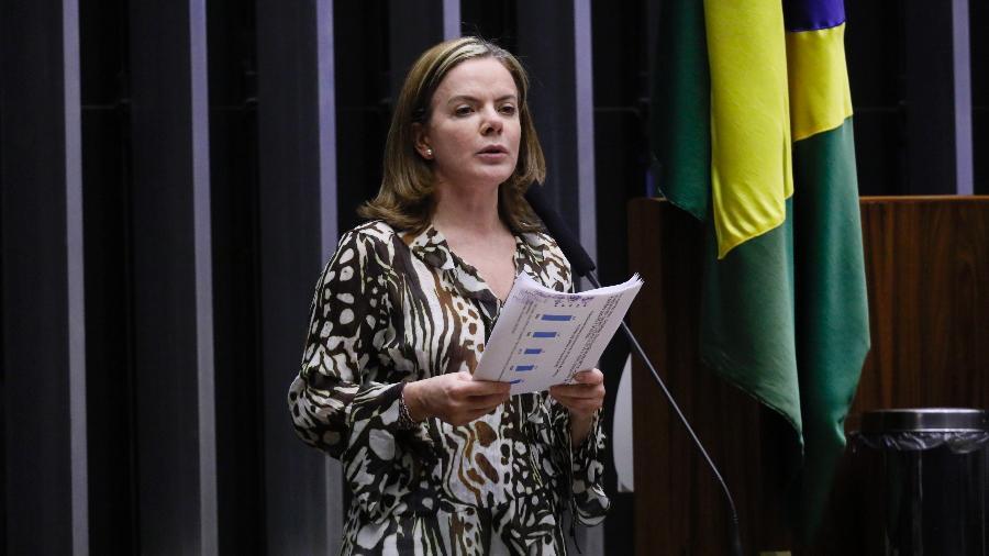Gleisi Hoffmann afirmou que a intenção do PT é derrotar Bolsonaro - Maryanna Oliveira/Câmara dos Deputados