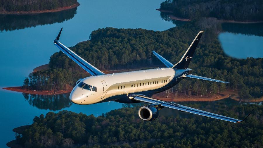 Jato executivo Embraer Lineage 1000 - Divulgação