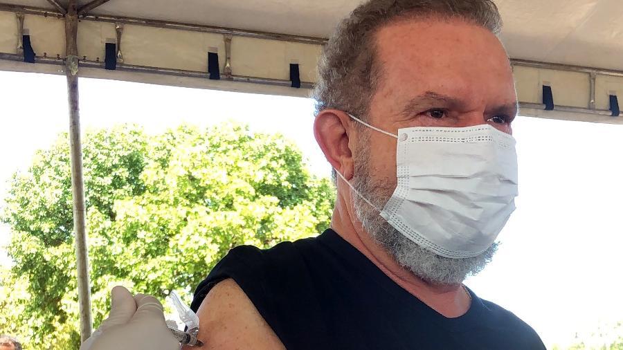 Governador Mauro Carlesse foi vacinado contra o novo coronavírus - Divulgação/Governo de Tocantins