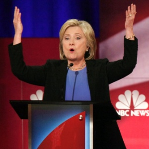 A pré-candidata democrata à Presidência dos Estados Unidos Hillary Clinton