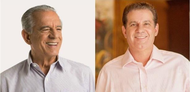 O ex-governador e ex-senador Íris Rezende (PMDB) e o empresário Vanderlan Cardoso (PSB) concorrem à prefeitura de Goiânia - Reprodução/Facebook