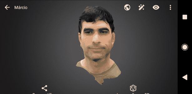 Resultado do app de criação 3D do Sony Xperia XZ1 - Reprodução - Reprodução