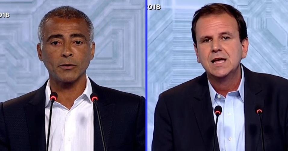 28.set.2018 - Montagem Romário e Paes debate Record