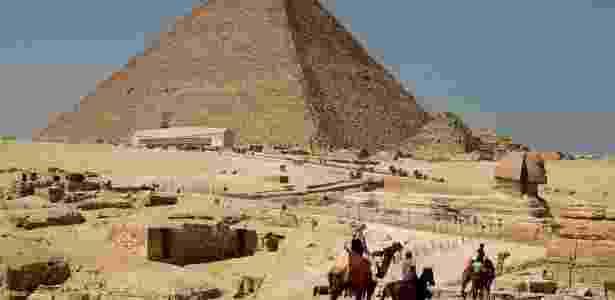 A Grande Pirâmide de Gizé é a mais antiga das sete maravilhas do mundo - Getty Images