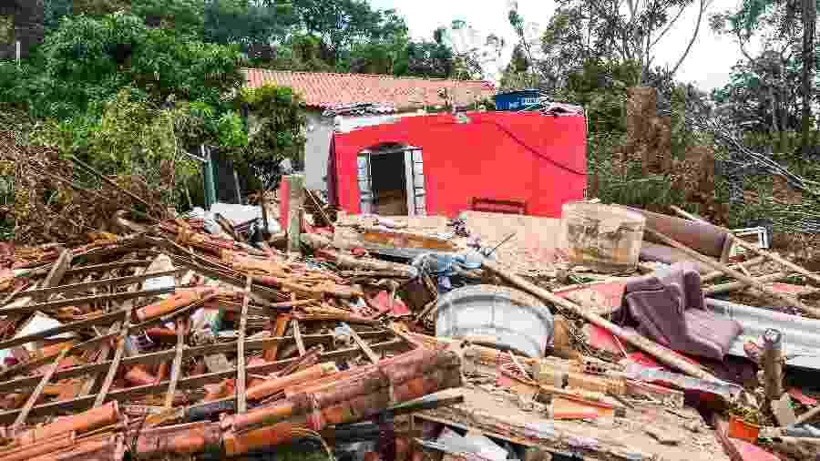 3.fev.2019 - Imóveis destruídos na região de Brumadinho (MG) após rompimento da barragem da Vale  - Cadu Rolim/FotoArena/Estadão Conteúdo