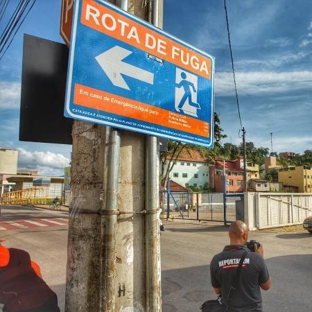 Moradores de Barão de Cocais treinaram rotas de fugas, após alerta máximo em barragem - Leo Fontes / O Tempo