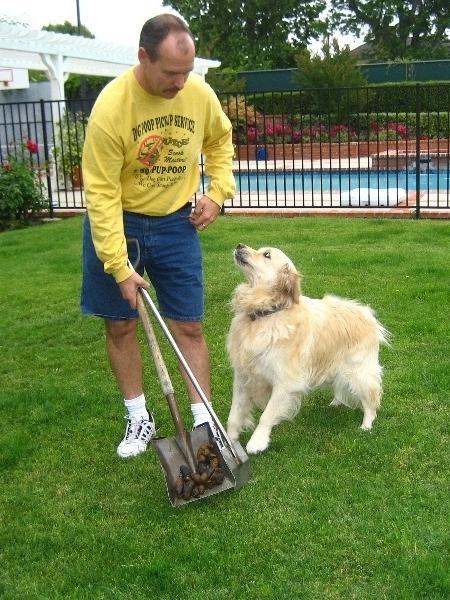 A equipe da Scoop Masters Dog Poop Pick Up Service atende no subúrbio de Los Angeles (EUA); cada visita custa US$ 11,31 (R$ 43,25) - Divulgação